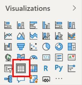Power BI Tabel Visualisatie
